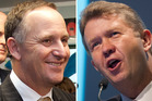 National leader John Key has rare political gifts. Labour leader David Cunliffe has a mountain to climb. Photos/ APN, Mark Mitchell