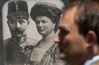 Exhibits in the Sarajevo museum marking the start of World War I include portraits of Archduke Franz Ferdinand and his wife Sofia von Hochenberg. Photo / AP