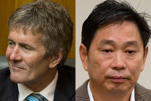 Former Labour Minister Damien O'Connor and Chinese businessman Donghua Liu. File photo / NZ Herald