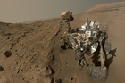 Curiosity rover took selfies of its work on Mars in April and May. Photo / Nasa