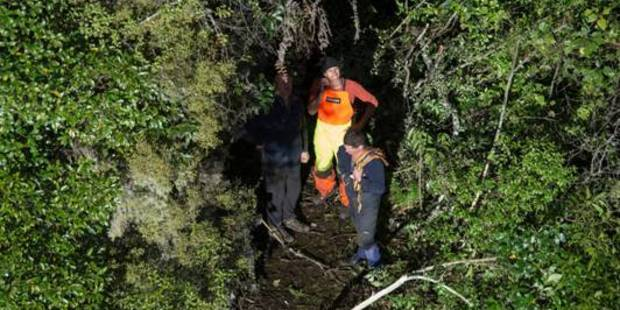 Rescue staff at the scene. PHOTOS: LandSAR/Police/Greenlea Rescue Helicopter