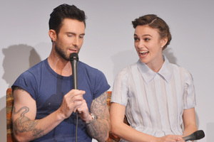 Adam Levine and Keira Knightley star in the movie, Begin Again. Photo / Getty Images