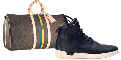 Louis Vuitton's Mon Monogram service allows you to add your initials to leather goods, while hip brand Feit offers handmade shoes. Pictures / Supplied