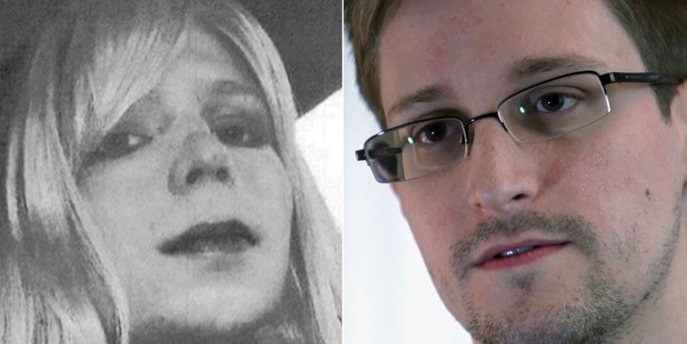 Chelsea Manning, left, and Edward Snowden. Photos / AP