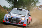 Hayden Paddon in action during Rally Poland. Photo / Honza Fronek
