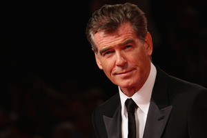 Pierce Brosnan is eyeing a role in the next Expendables film. Photo / Getty Images