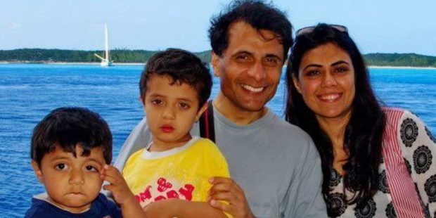 SETTLED: Nina Riaz and her husband Riza Ur Raheem with their two boys Zeerak, now 7, and Zeroun, now 5, have been living in the Bay for the past few months. PHOTO/SUPPLIED