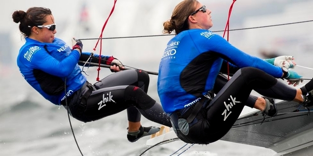 Alex Maloney, left, and Tauranga's Molly Meech are competing at the European Championships in Helsinki.Photo/File