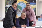 Te Ikaroa Rangatahi Social Services manager Mere Ruru, centre, is delighted. She is pictured with her are rangatahi ora navigator Talia Ruru and bail support youth worker Tuta Hongara. Photo / Duncan Brown