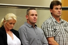 Jayne Crompton, left, Marc Ethelstone and Dean Theobald, were involved in the manufacture of methamphetamine. Photo / File