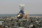 Israel has launched what could be a long-term offensive against the Hamas-ruled Gaza Strip. An Israeli missile explodes on impact in Rafah, in the south of the territory. Photo / AP