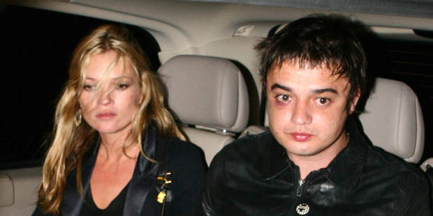 Kate Moss with ex Pete Doherty. Photo / Getty Images