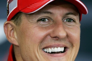 The man worked for a helicopter company which helped transfer Schumacher (pictured) to Switzerland in June. Photo / AP