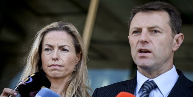 Kate McCann (L) and her husband Gerry McCann (R), parents of missing British youngster Madeleine McCann. Photo / AFP