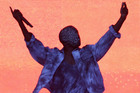 Kanye West performs at the Wireless Festival in Finsbury Park, north London. Photo/AP
