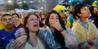 View: Sad faces of Brazil's defeat