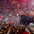 Members of Costa Rica's national soccer team are greeted by fans, at their homecoming celebration in honor of the team's World Cup showing, in San Jose, Costa Rica. Photo / AP