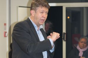 Labour leader David Cunliffe in Hamilton on Wednesday.
