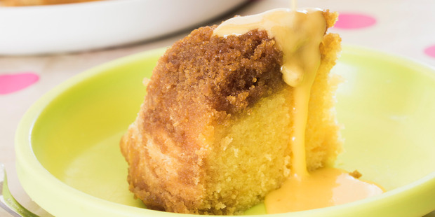 Try out the recipe for this delicious upside-down golden syrup pudding.