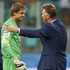 Netherland's coach Louis van Gaal, right, celebrates with man-of-the-moment Tim Krul.