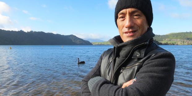 Taiaroa Royal feels instantly calm at Lake Okareka. Photo / Wiremu Fitzgerald