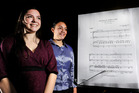Ashleen Fahy (left) 17, and Leilani Taula, 17, are both heading to national competitions with their singing groups. PHOTO/GEORGE NOVAK