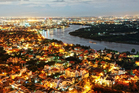 Ho Chi Minh City at night appears as if blanketed in Christmas lights.