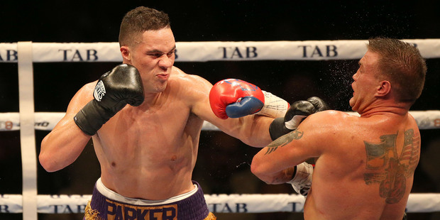 Loading Joseph Parker on his way to beating Brian Minto by TKO. Photo / Peter Meecham