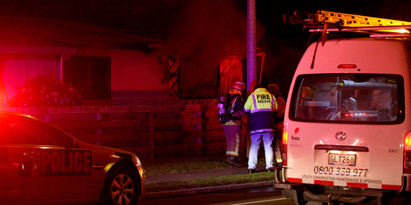 Emergency services attend the Maranui Road fire.