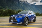 The Lexus NX 200t F Sport at the Canadian launch. Photo / Supplied