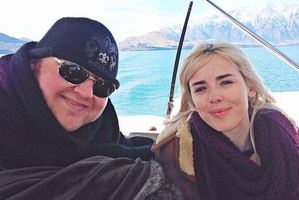 Dotcom and Danielle Sharp in Queenstown. Photo / Supplied