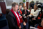 Labour Party leader David Cunliffe holds a press conference at his electorate office in reaction to the National Party polices announced at their Party conference. Photo / NZ Herald