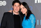 Actor Jason Biggs and wife, actress Jenny Mollen. Photo / AP