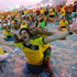 Colombia soccer fans celebrate a goal against Uruguay as they watch the World Cup round of 16 match inside the FIFA Fan Fest area. Photo / AP
