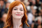 Actress Christina Hendricks is famous for her firey mane.  Photo / AP