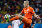Arjen Robben can terrify defenders with his pace and skill. Photo / AP