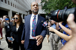 Former New Orleans Mayor Ray Nagin leaves federal court after being sentenced in New Orleans. Photo / AP