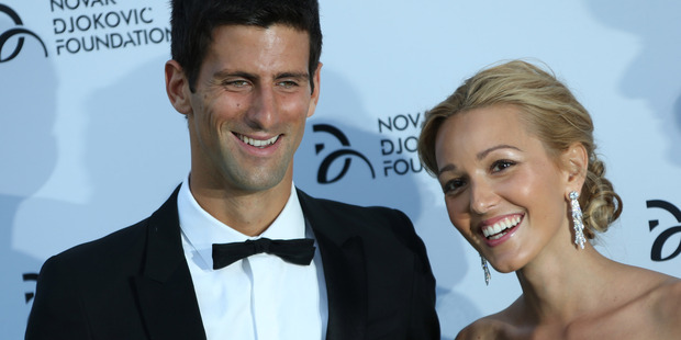 July 8, 2013 file photo, Novak Djokovic and Jelena Ristic at a Gala dinner at the Roundhouse in Camden, north London. Photo / AP