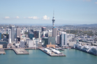 Aerial photograph Auckland City waterfront. Photo / Richard Robinson.