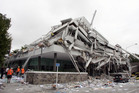 The severely damaged PGC building that was destroyed in the Canterbury quake of 2011.