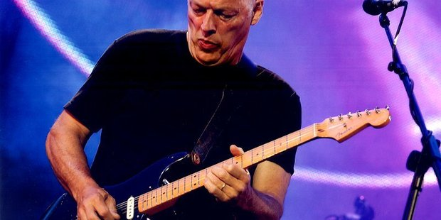 David Gilmour of Pink Floyd at Live 8 in 2005.
