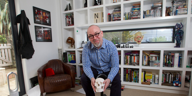 Novelist and screenwriter Neil Cross photographed in the studio at his Wellington home last year (Mark Mitchell)