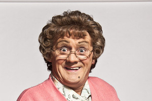 Irish comedian Brendan O'Carroll as Mrs Brown.