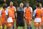 Head Coach Todd Blackadder with his team during a training session. Photo / APN