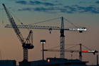 Mansons TCLM's tower cranes on their sites at Victoria Street West. Photo / Greg Bowker