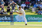 Left-arm swing bowler Trent Boult made a good job of a rare white ball opportunity. Photo / NZPA