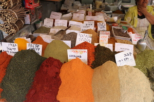 Spices at the Carmel Market. Picture / Supplied