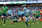 Rob Horne of the Waratahs scores a try during the round 18 Super Rugby match between the Waratahs and the Highlanders at Allianz Stadium. Photo / Getty Images.