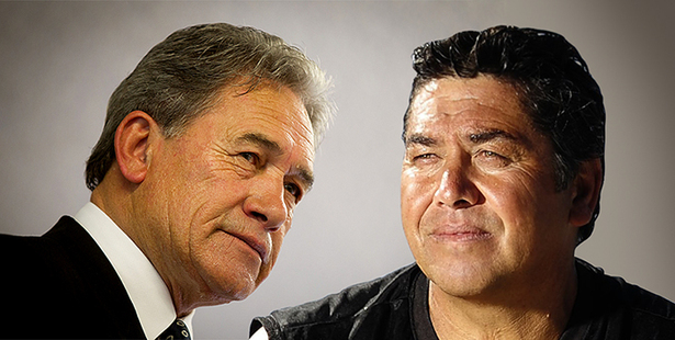 New Zealand First Leader Winston Peters and Tauranga-based Independent MP Brendan Horan.