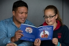Keven Mealamu illustrated a book Grace Michie, of Pukekohe, wrote. Photo / Brett Phibbs